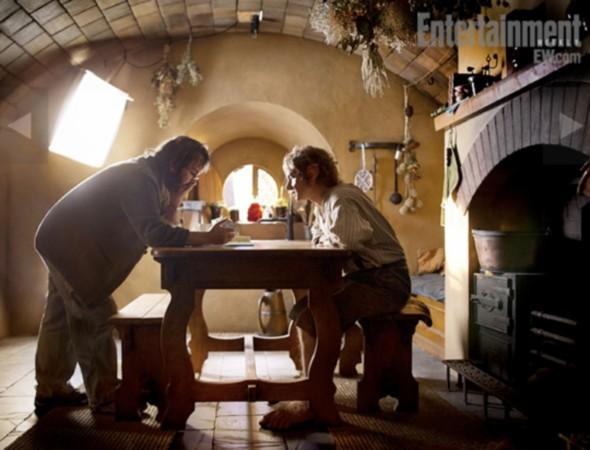 Martin Freeman y Peter Jackson