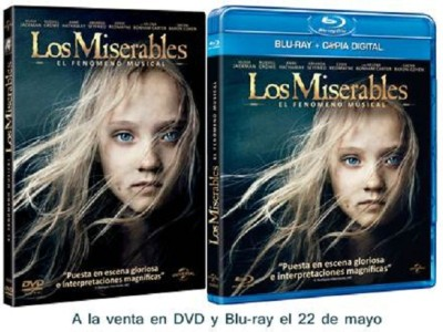 Los Miserables. DVD y Blu-ray