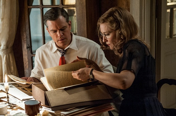 Matt Damon y Cate Blanchett en 'The monuments men'