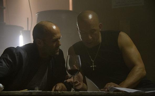 Jason Statham y Vin Diesel en el rodaje de 'A todo gas 7'