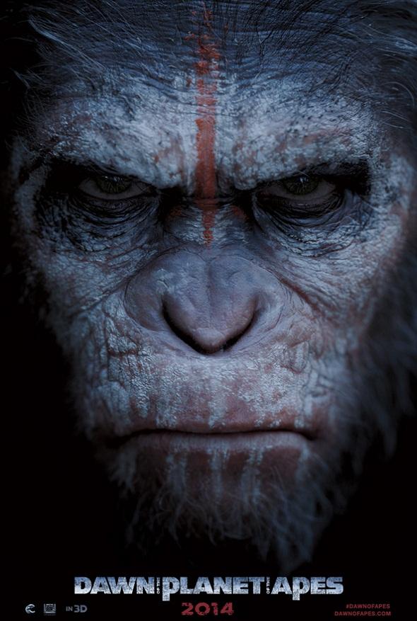 César protagoniza el primer póster de 'El amanecer del planeta de los simios'