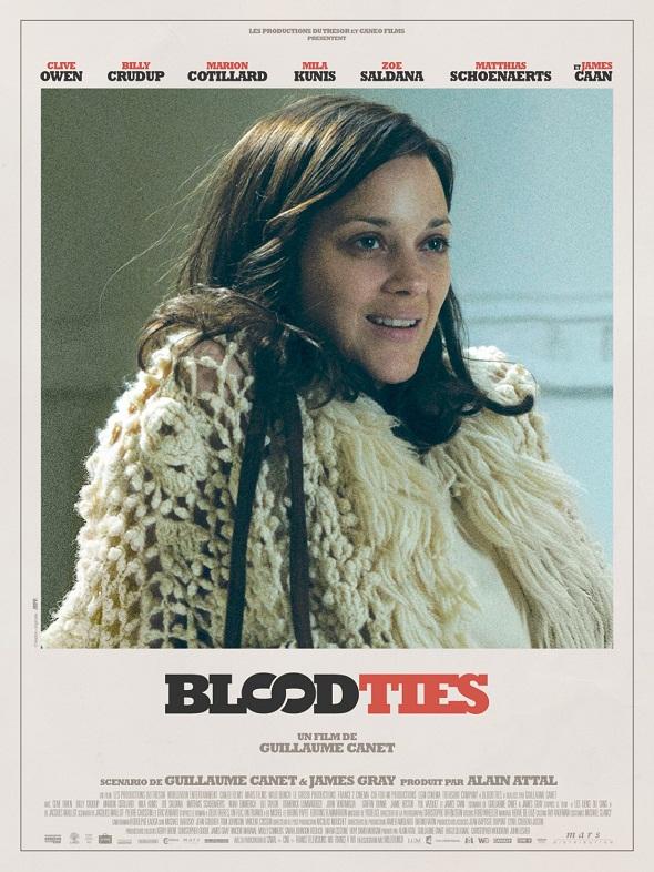 Póster de 'Blood ties' de Marion Cotillard