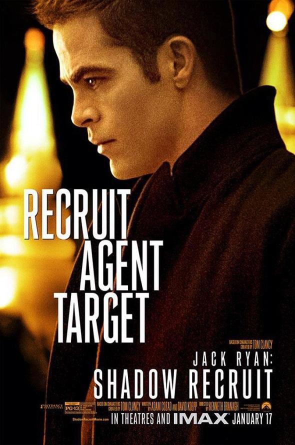 Chris Pine en el póster de 'Jack Ryan: Operación Sombra'