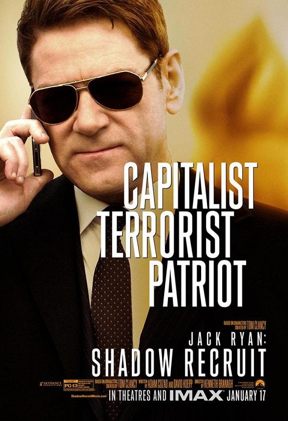 Kenneth Branagh en el póster de 'Jack Ryan: Operación Sombra'