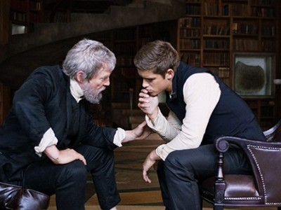 Jeff Bridges y Brenton Thwaites en 'The Giver'