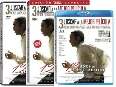 Ediciones DVD y BD de 12 años de esclavitud
