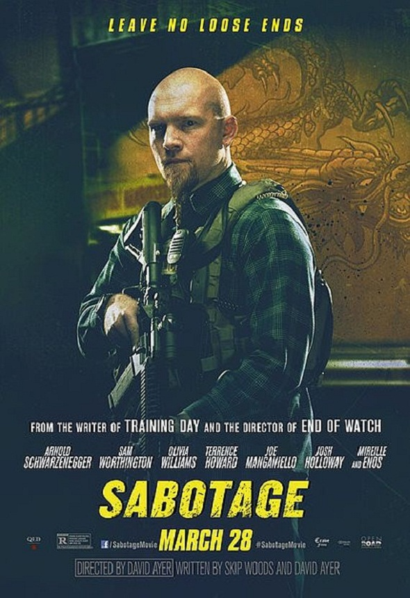 Póster de 'Sabotage' con Sam Worthington