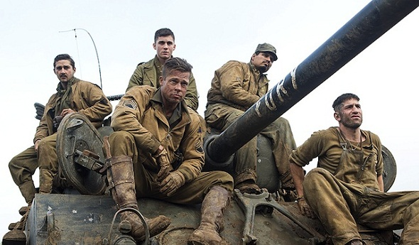 La tripulación del tanque protagonista de 'Fury'