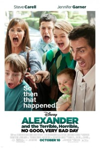 Póster de 'Alexander and the terrible, horrible, no good, very bad day'