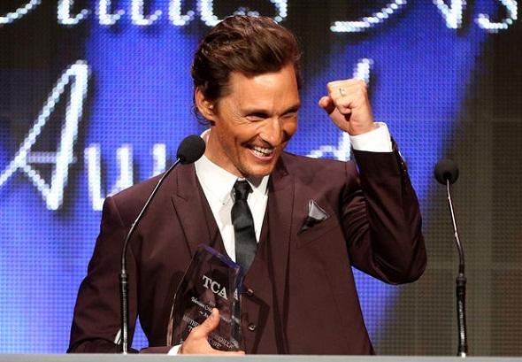 Matthew McConaughey, mejor actor del año