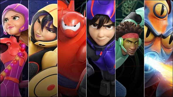Los personajes principales de 6 Héroes (Big Hero 6)