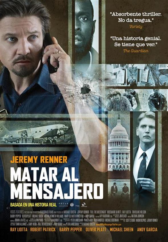 Póster final en español de Matar al Mensajero (Kill the Messenger)