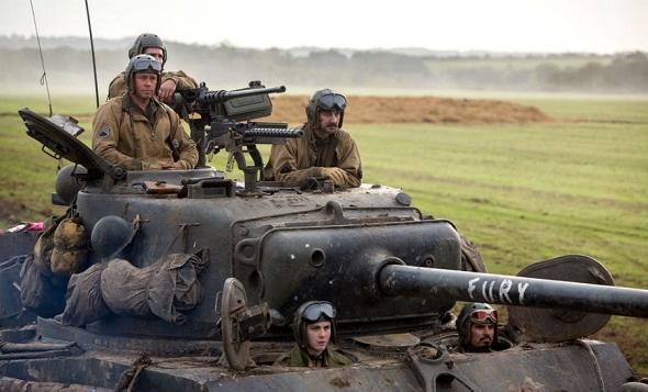 La dotación de un tanque de la II Guerra Mundial protagoniza 'Corazones de acero'