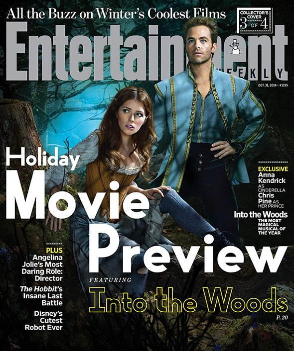 Anna Kendrick y Chris Pine serán Cenicienta y su Príncipe en 'Into the woods'