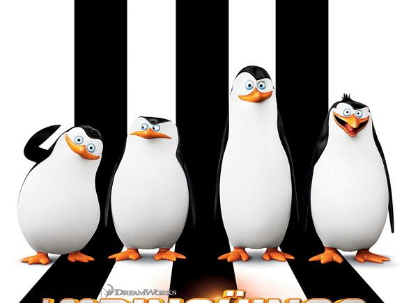 Póster de 'Los Pingüinos de Madagascar: la película', protagonizado por los cuatro Pingüinos