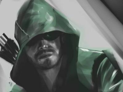 Dibujo de Oliver Queen en la serie 'Arrow'