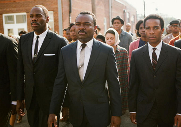 David Oyelowo (centro) es Martin Luther King en 'Selma'