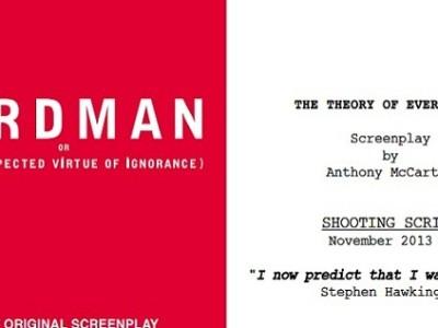 'Birdman' y 'La teoría del todo', dos guiones favoritos para el Oscar