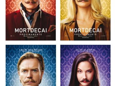 Pósteres en español con los personajes de Mortdecai