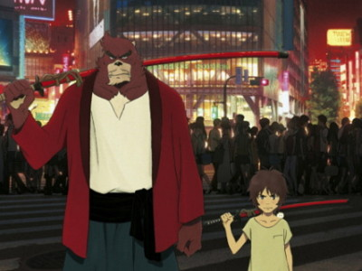 Una imagen de The Boy and The Beast, con Kyuta y Kumatetsu