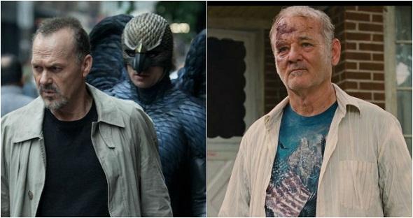 Michael Keaton en 'Birdman' y Bill Murray en 'St. Vincent'