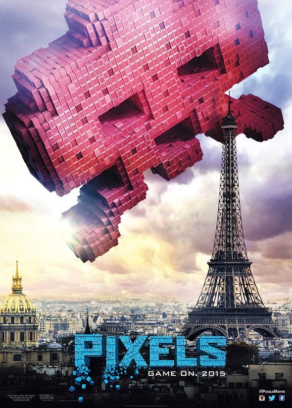 Space Invaders vs Torre Eiffel