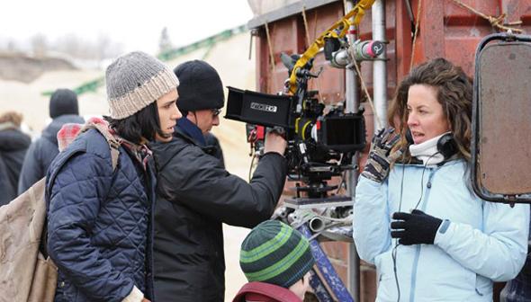 Fotografía de rodaje de 'No llores, vuela'.