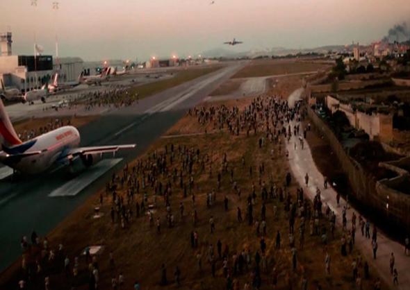 Un fotograma de la película Guerra Mundial Z