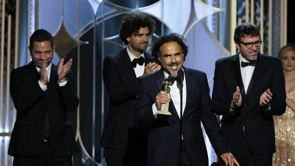 Alejandro González Iñárritu, premiado por el guión de 'Birdman'