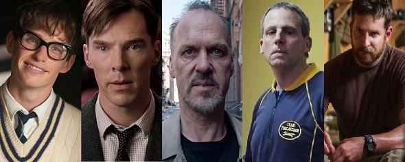Eddie Redmayne, Benedict Cumberbatch, Michael Keaton, Steve Carrell y Bradley Cooper