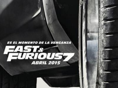 Imagen del póster en español de Fast & Furious 7