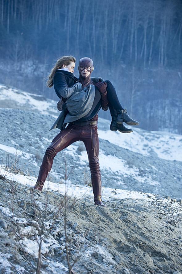 Una imagen de The Flash (Grant Gustin), al rescate