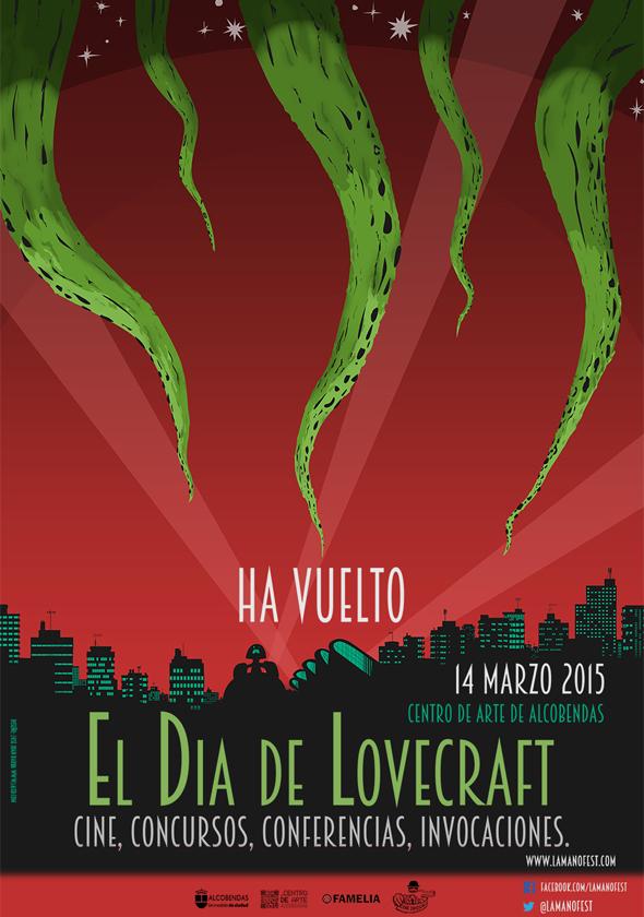 Póster de las jornadas para 'El día de Lovecraft'.