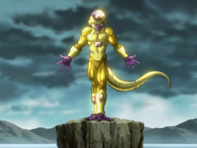 Una imagen de Dragon Ball Z Resurrection, con Freezer
