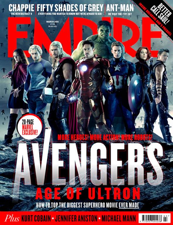 Imagen de Los Vengadores, en la portada de Empire