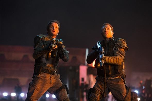 Jason Clarke y Jai Courtney en 'Terminator Génesis'