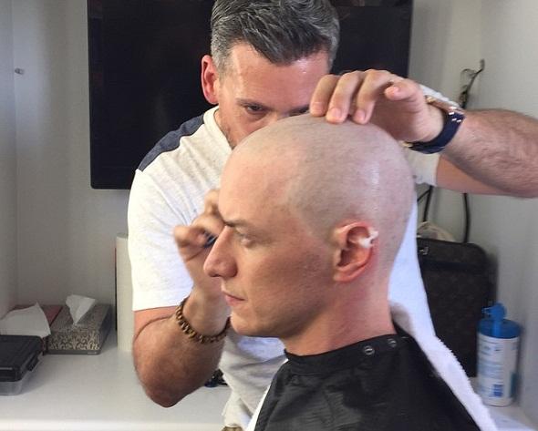 James McAvoy se afeita la cabeza para 'X-Men: Apocalypse'