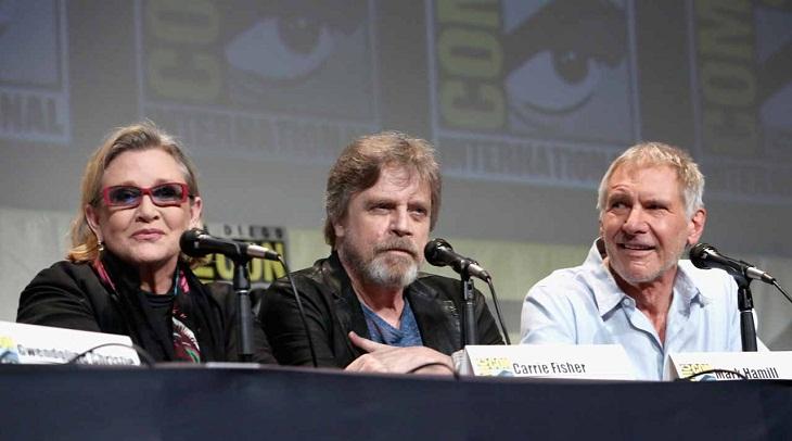 Carrie Fisher, Mark Hamill y Harrison Ford protagonizan la conferencia en la Comic-Con