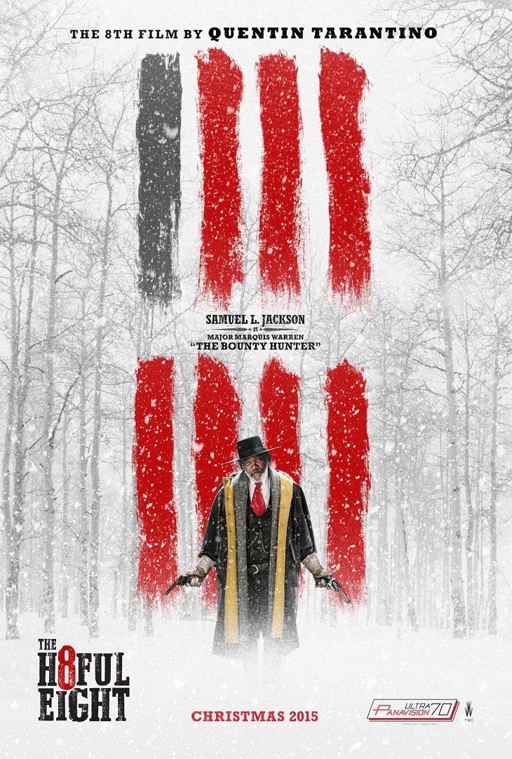 Póster de Samuel L. Jackson para 'The hateful eight'