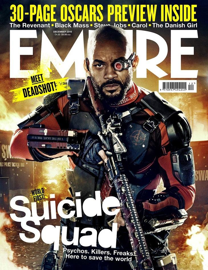 Portada de Will Smith/Deadshot para 'Suicide squad'