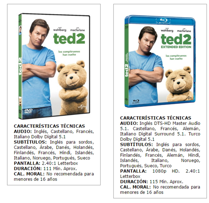 Ted 2 en Bluray y DVD