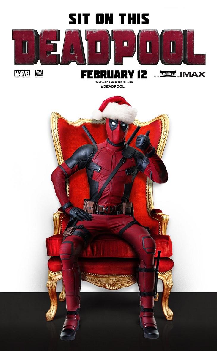 Póster navideño de 'Deadpool'