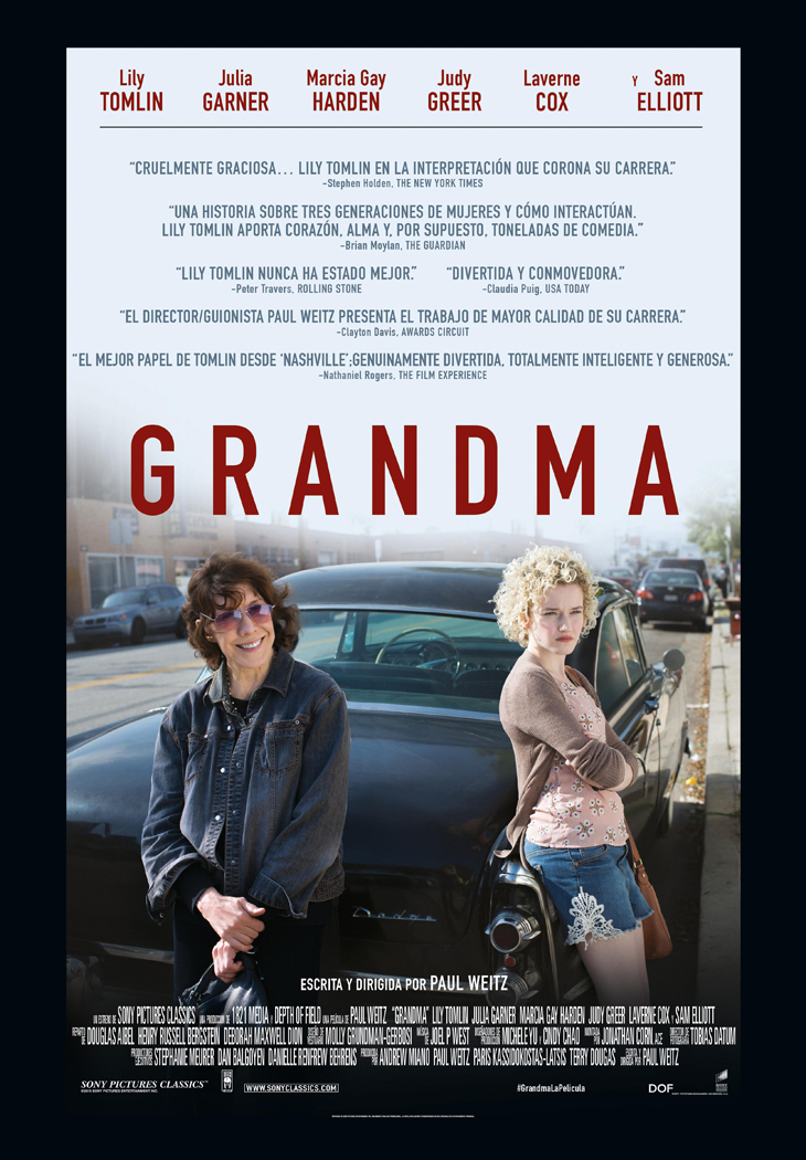 Póster Grandma, escrita y dirigida por Paul Weitz