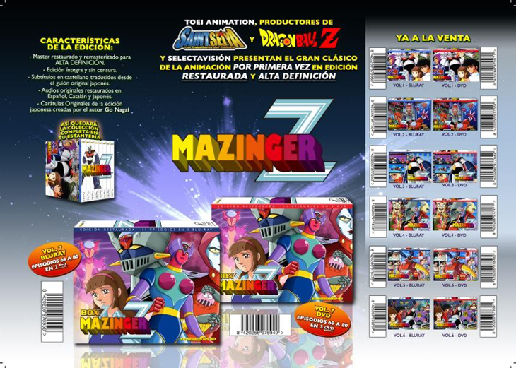 'Mazinger Z - Box 7' (DVD y Blu-ray)