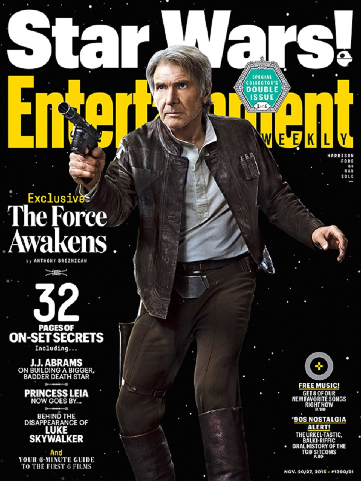 Portada de 'Star Wars: El despertar de la Fuerza' para Harrison Ford