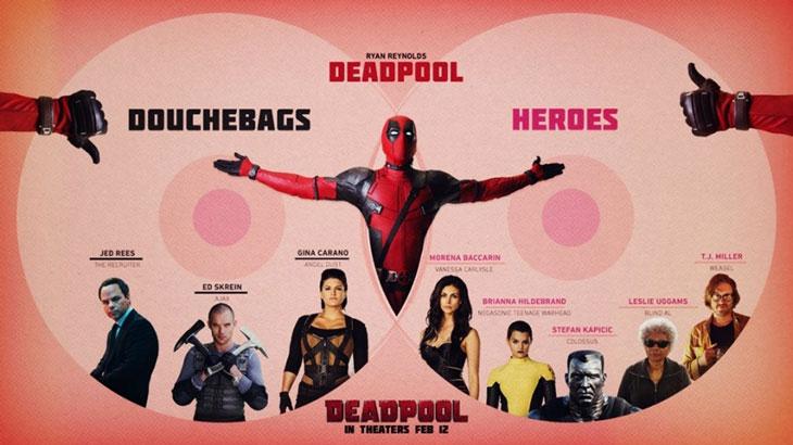Héroes y villanos de Deadpool
