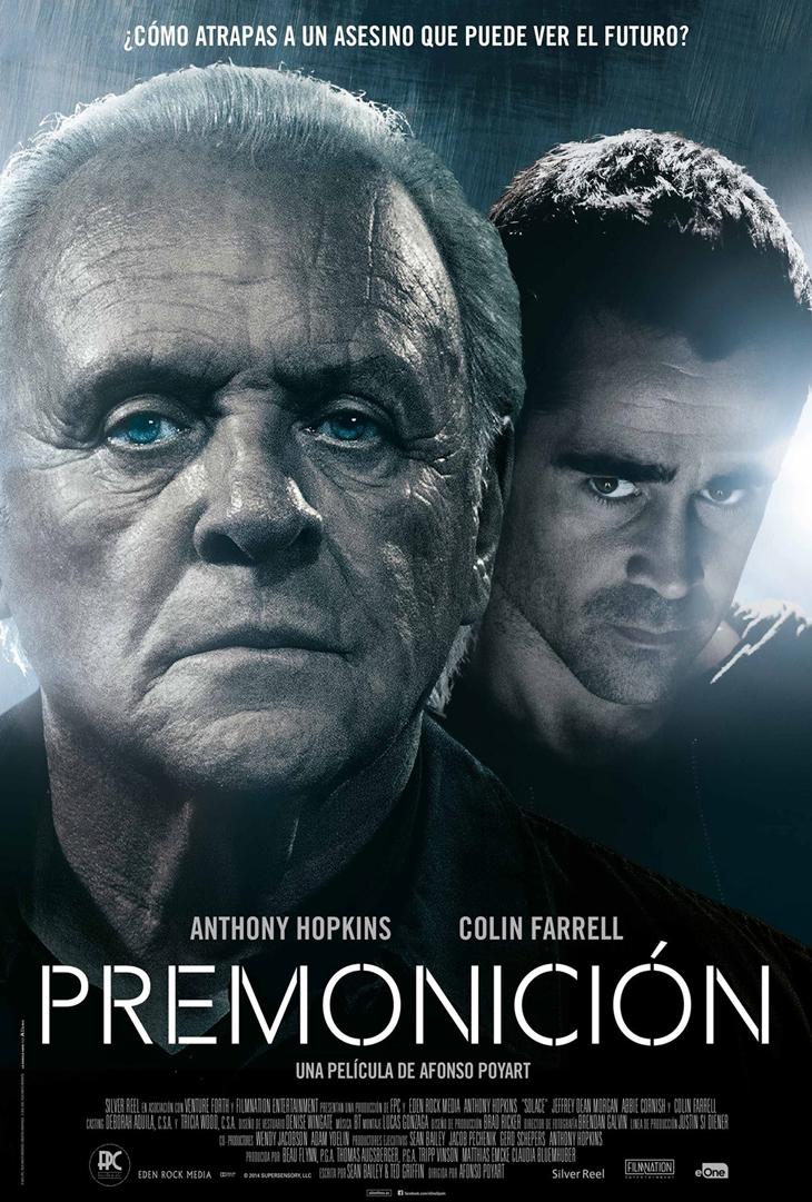 'Premonición' cartel y primeras imágenes del nuevo thriller paranormal de Anthony Hopkins y Colin Farrell