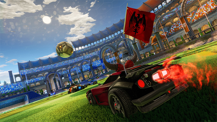 Rocket League coches y fútbol