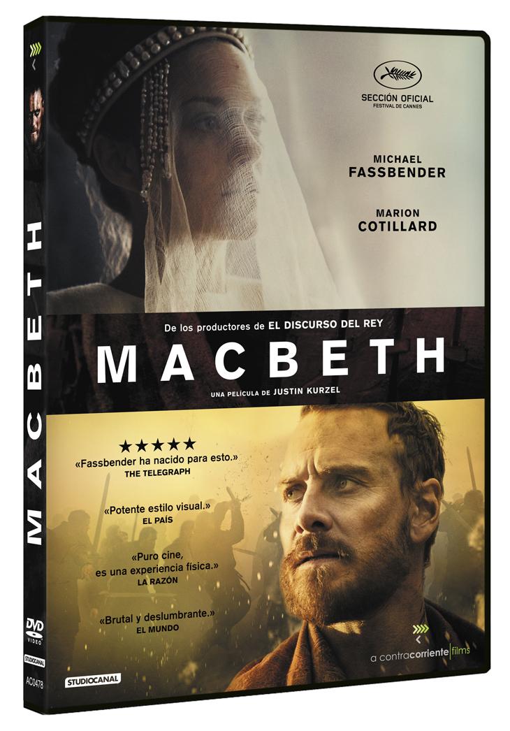 'Macbeth' con Michael Fassbender y Marion Cotillard, en Steelbook y DVD