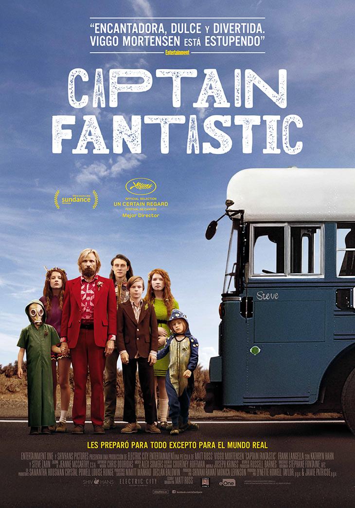 Póster en español de Captain Fantastic